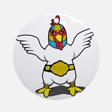 fightingchicken Round Ornament