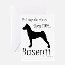 Basenji - They Yodel Greeting Card