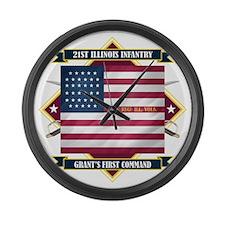 21st Illinois (Diamond) Large Wall Clock