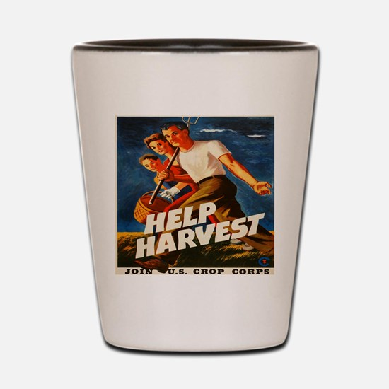 Help Harvest 10x10 Shot Glass