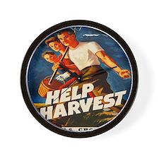 Help Harvest 10x10 Wall Clock
