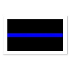 Thin Blue Line Rectangle Decal