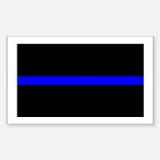Thin Blue Line Rectangle Stickers