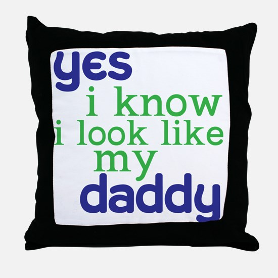 baby shirt 4-8copy Throw Pillow