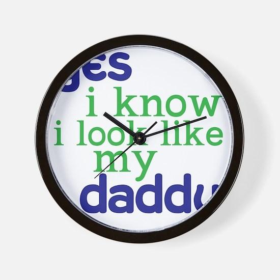 baby shirt 4-8copy Wall Clock