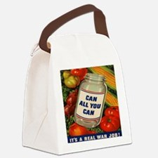 Can All You Can 10x10 Canvas Lunch Bag