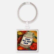 Can All You Can 10x10 Square Keychain