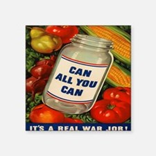 "Can All You Can 10x10 Square Sticker 3"" x 3"""