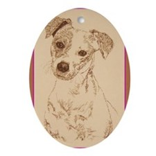 Jack_Russell_Smooth_KlineY Oval Ornament