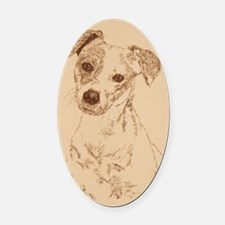 Jack_Russell_Smooth_KlineY Oval Car Magnet