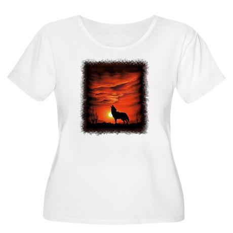 Coyote Howlin Women's Plus Size Scoop Neck T-Shirt