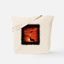 Coyote Howling Tote Bag