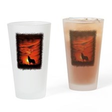 Coyote Howling Drinking Glass