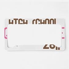 funkygradhigh2011pink License Plate Holder