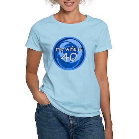 wife is 40 swirl Women's Light T-Shirt