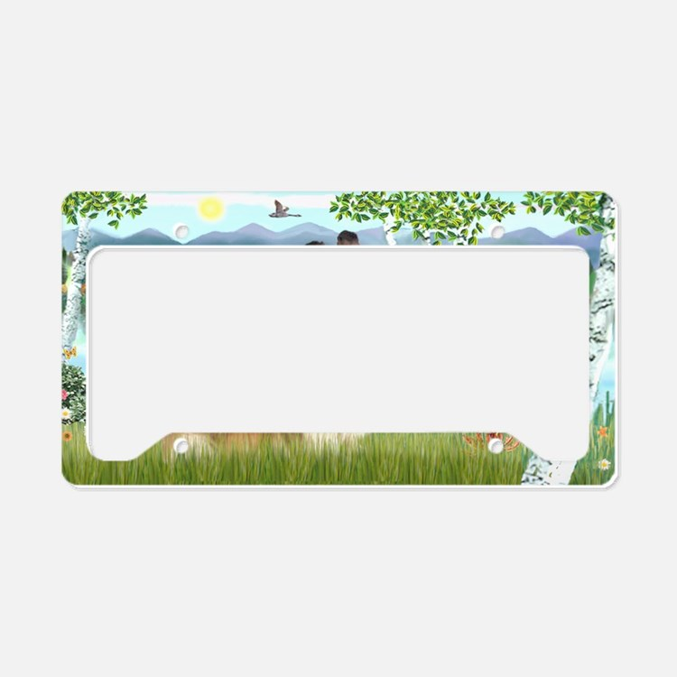 LIC-Birches-Sheltie7 License Plate Holder