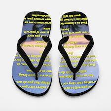 23x35Affirmations Flip Flops