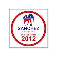 "2012_john_sanchez_main Square Sticker 3"" x 3"""
