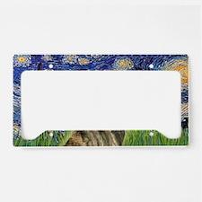 LIC-StarryNight-BrindleGreyho License Plate Holder