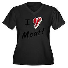 iheartsteak Women's Plus Size Dark V-Neck T-Shirt