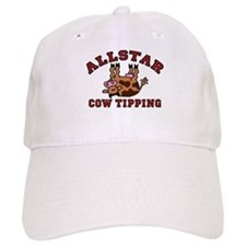 Cow Tipping Brown Cow Baseball Cap