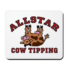 Cow Tipping Brown Cow Mousepad