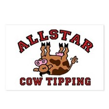 Cow Tipping Brown Cow Postcards (Package of 8)