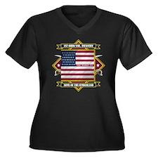 1st Ohio Vol Women's Plus Size Dark V-Neck T-Shirt