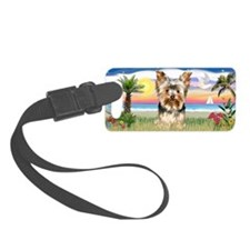 LIC-Palms-YorkshireTerrier17 Luggage Tag
