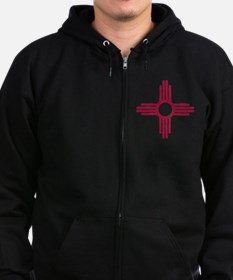 NM_red_shirt Zip Hoodie