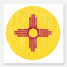 "NM_round_merch Square Car Magnet 3"" x 3"""