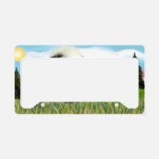 LIC-Evergreen-OldEnglish License Plate Holder