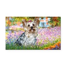 LIOC-Garden-Yorkie-T Rectangle Car Magnet