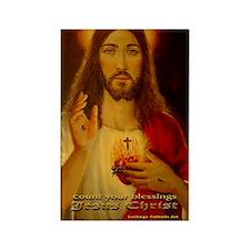 JESUS CHRIST blessings LorAnge Ar Rectangle Magnet