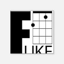 "F-Uke Square Sticker 3"" x 3"""