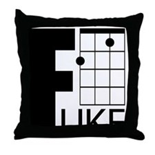 F-Uke Throw Pillow