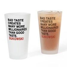 bukowski8 Drinking Glass