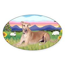 LIC-SummerField-Greyhound lyingdown Decal