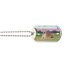 LIC-SummerField-Greyhound lyingdown Dog Tags