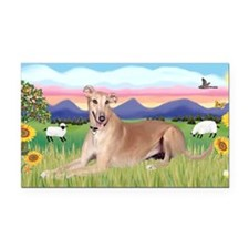 LIC-SummerField-Greyhound lyi Rectangle Car Magnet