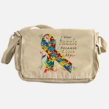 I Wear A Puzzle Because I Love My Gr Messenger Bag