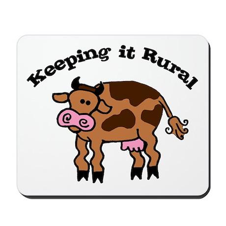 Keeping it Rural Brown Cow Mousepad