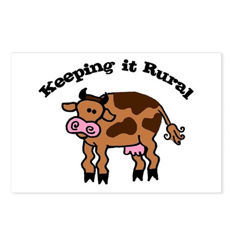Keeping it Rural Brown Cow Postcards (Package of 8