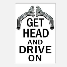 Get Head Drive On 2 Postcards (Package of 8)