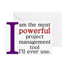 Most Powerful PM Tool Greeting Card