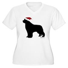 NewfSantaOnBlack T-Shirt