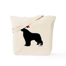 NewfSantaOnBlack Tote Bag