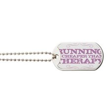 Running Therapy Purple Dog Tags