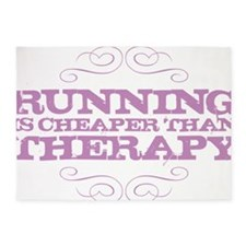 Running Therapy Purple 5'x7'Area Rug