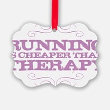 Running Therapy Purple Ornament